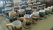 Budweiser Christmas Steins 1980-2010 New Condition, One Owner, Missing 2008