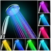 New Colorful Shower Head Home Bathroom 7 Colors Led Changing Water Glow Light