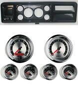 73-79 Ford Truck Carbon Dash Carrier W/ Auto Meter 3-3/8 American Muscle Gauges