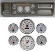 73-79 Ford Truck Silver Dash Carrier W/ 3-3/8 Concourse Series Silver Gauges