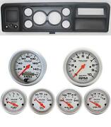 73-79 Ford Truck Black Dash Carrier W/ Auto Meter Ultra-lite Electric Gauges