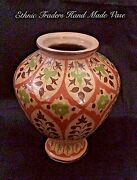 Beautiful Hand Made Clay Vase with Hand Painted Color
