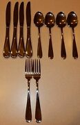 Oneida Usa Flatware Stainless Silverware Flight Great Condition 10 Pc