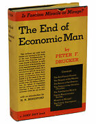 The End Of Economic Man Peter Drucker First Edition 1939 Management 1st Book