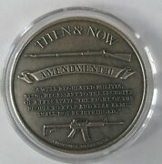 1 Oz .999 Silver Punisher Antiqued Coin Second Amendment Musket New Rare