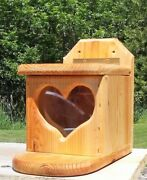 Pop Up Heart, Square, Tree Or Fence Mount Squirrel Feeder, Cedar Wood, Tbnup 1