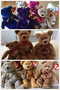 Bears - Beanie Babies Collection/lot Nwt Princess Fuzz Curly Harry Ty2k Etc.