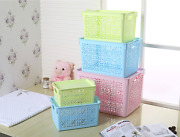 Plastic Storage Boxes Baskets Bins Tote Stacking Container Organizer Lid 5 Pack