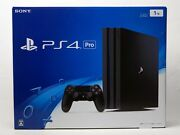 New Model Sony Playstation 4ps4 Pro Game Console Jet Black 1tb Cuh-7200bb01