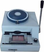 2 In 1 75ce Manual Pvc Embosser Id Card Embossing And Indenting Print Machine Y Bs