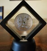 Disney Mickey Mouse Steamboat Willie 1 Oz. 999 Silver Coin 2 Dollar Niue Framed