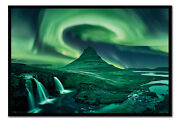 Aurora Borealis Northern Lights Poster Magnetic Notice Board Inc Magnets