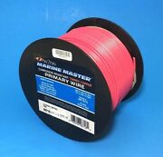 Deka 16 Awg Pink Marine Tinned Copper Boat Stranded Wire 100 Feet Made In Usa