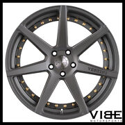 20 Vertini Dynasty Grey Concave Wheels Rims Fits Infiniti G37 G37s Coupe