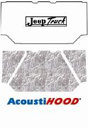 1962 1988 Jeep Truck Under Hood Cover With J-086 Jeep Truck