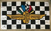 25 Winners Signed 3'x5' Flag Indianapolis Indy 500 Aj Foyt Mario Andretti Unser