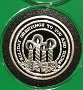 Holiday Greetings To You And Yours Christmas Coin 1 Troy Oz .999 Fine Silver Round
