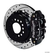 Wilwood Chevy 10/12 Bolt W 2.81 Offset Rear Disc Brake Kit 12.88 Drilled Stagg