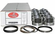 Enginetech Chevy 383 Stoker Pistons With Rings Floating Pins 5.7 Rods .060