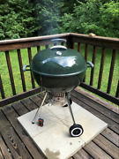Charcoal Kettle Bbq Grill Built-in Thermometer Gourmet Barbecue System