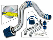 Cold Air Induction Intake Kit + Blue Dry Filter For Acura 94-01 Integra Gsr Dc2