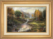 Thomas Kinkade Studios Reflections Of Family 24 X 36 Limited Edition S/n Canvas