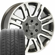 20 Wheel Tire Set Fit Ford Expedition Gunmetal Rims Machand039d Gy Tires 3788