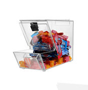 Acrylic Candy Bin Dry Foods Beans Toys Bins Holder Display Box Countertop Con