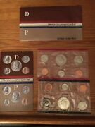 1984 Uncirculated Coin Set - United States Mint - Philadelphia And Denver - Mst