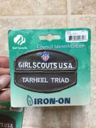 Girl Scouts Usa Tarheel Triad Council Identification Id Patches Brown
