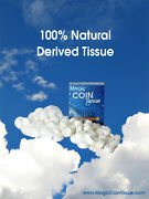 Compressed Coin Tissue - Magic Coin Tissue 6,000pc Buy10 And 2 Box Free