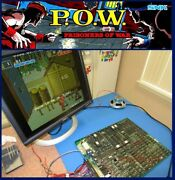 Arcadecoin Operated Amusement Snk P.o.w. Pcb Tested Working Jamma