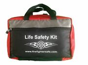 Life Safety Kit - Firefighter Safe First Aid Kit Work Home Camping Car