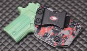 Red And Gray Digital Camo-iwb-kydex Holster Ccw Concealed-carry