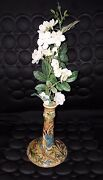 Antique Persian Pottery Glazed Candle Holder Hand Made.amazing