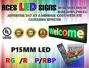 Led Sign 12 X 40 Programmable Scroll Message Board Rgy/rwp/rbp P15mm