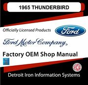 1965 Ford Thunderbird Shop Manuals And Parts Books Cd