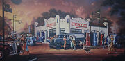 Michael Young, When Service Was Service S/n Print, Sinclair Gas Station Pumps