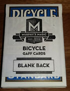 Blank Back Bicycle Single Gaff Card - Great For Magic Tricks