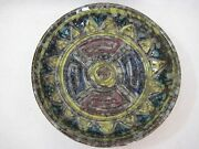 """Vintage Hand Crafted/Painted Art Pottery Bowl, Made In Italy, 7"""" Dia X 1 1/2"""" H"""