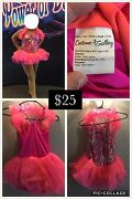 Lot Of 9 Gently Used Girls Dance Costumes Sizes Cl And Cxl