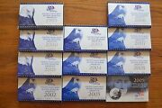 1999-2009 New Bu Us State Quarters Complete Set 56 Coins + 2 Storage Boxes