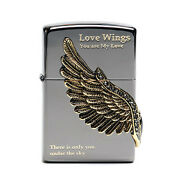 Zippo Love Wings Black Lighter Made In Usa / Genuine And Original Packing