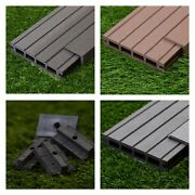 33 Sqm Of Wooden Composite Decking Inc Boards Edging And Fixing Packs