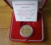 Monaco 2 Euro Be 2010 Uncirculated In Box And Caps Albert South Europe