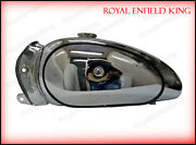Royal Enfield Bullet 1950's Style Chromed Fuel Petrol Gas Tank With Cap And Tap