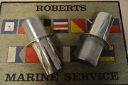 Thru Hull Polished Stainless Steel 4 Inch Exhaust Tips, High Performance, Hp