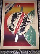 James Rosenquist Spinning Faces In Space Lithograph With Signature