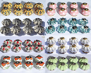 Ceramic Knobs Glass Pulls Handles For Door Drawer Cabinets Cupboard Wardrobe X 8