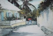 Stephen Scott Young-fl Realist-signed Wc Remarque And Lim. Ed Print-bahamas Street